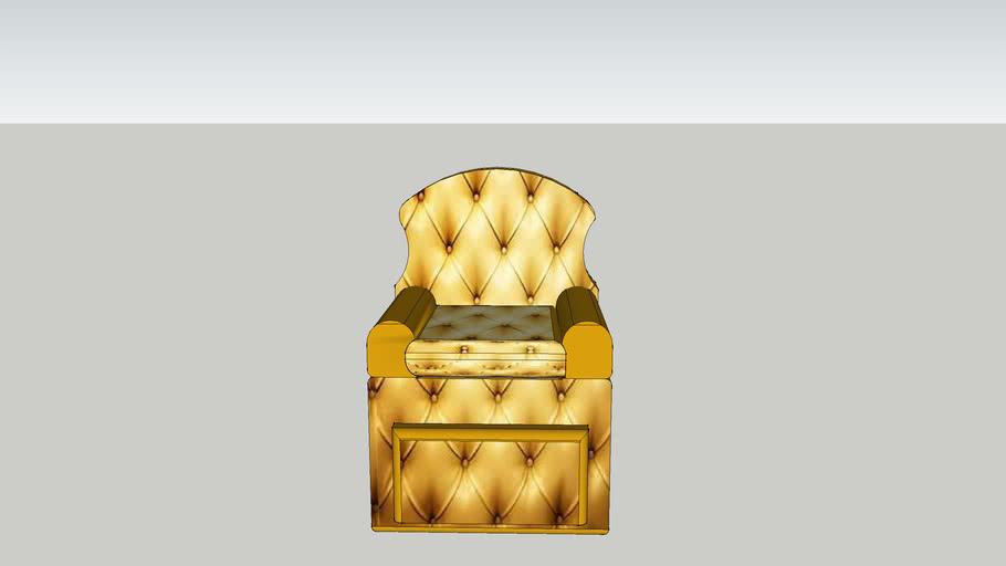 gold-tan recliner chair
