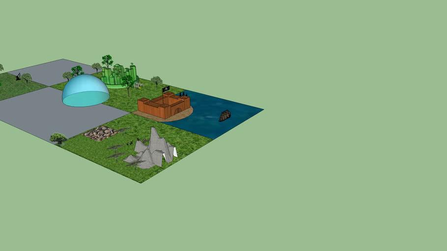 Stem Fantasy Train Village