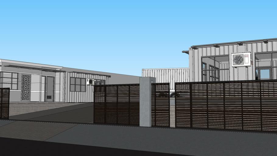 Shapes  Gudang  Workshop  Peti Kemas  Office  -  Container 20 Ft