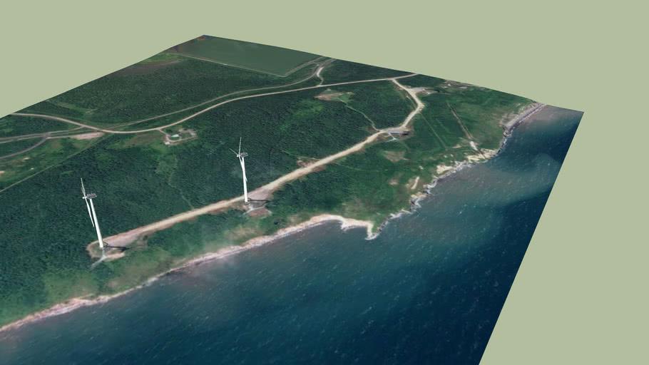 Lingan Point Windfarm - Two Windmills