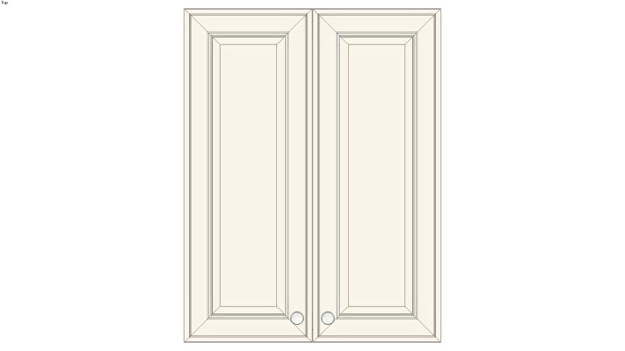 Wall Double Door 39Hx15D