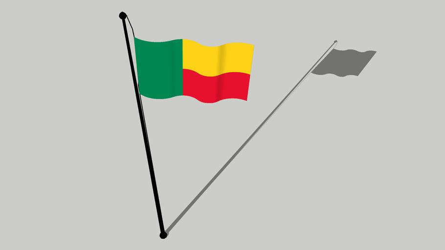 Flag of Benin - Drapeau du Bénin - Ilu oyinbo ti Benin
