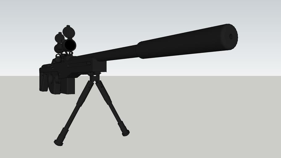 Semi-Automatic Mid-Range Rifle with Attachments