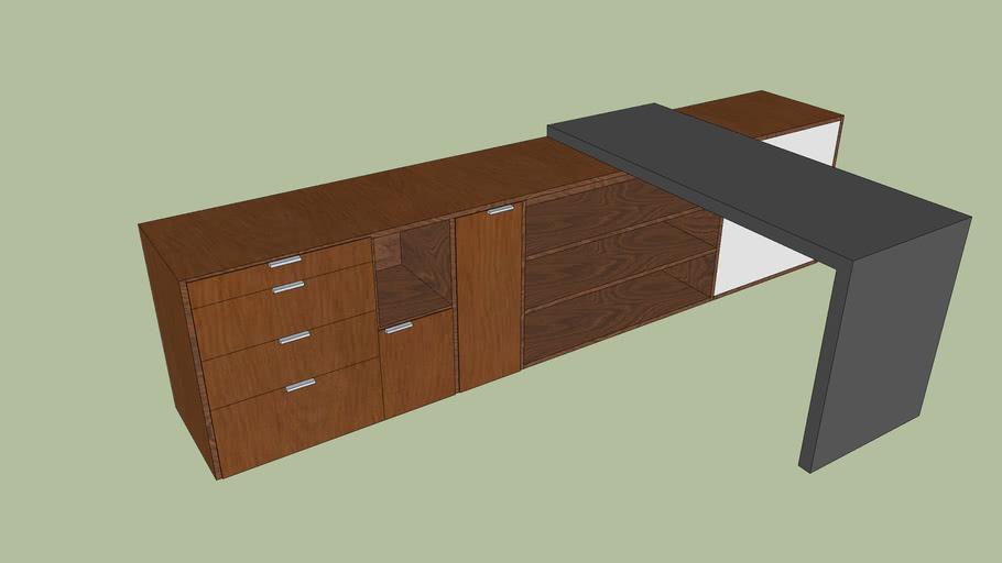 Modern Desk and Draws