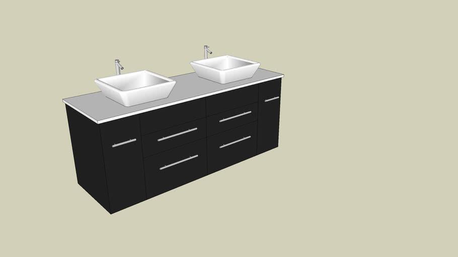 Modern Vanity 3d Warehouse, Bathroom Cabinet Warehouse