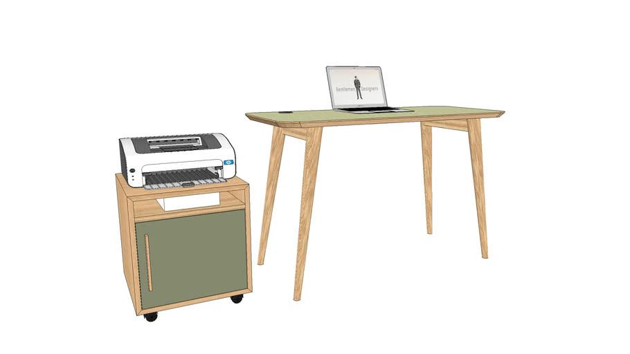 Bureau et desserte sur-mesure 120x50xh75 cm / Desk