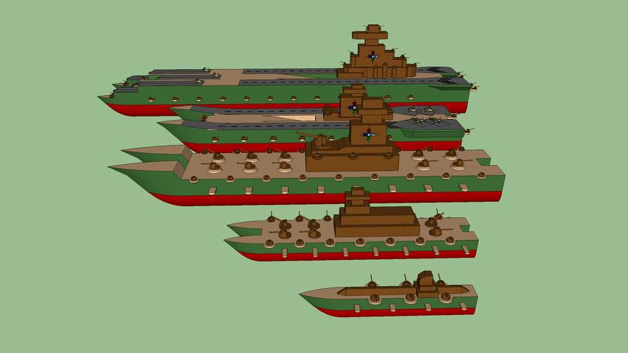 Legend of Korra: United Forces Ships