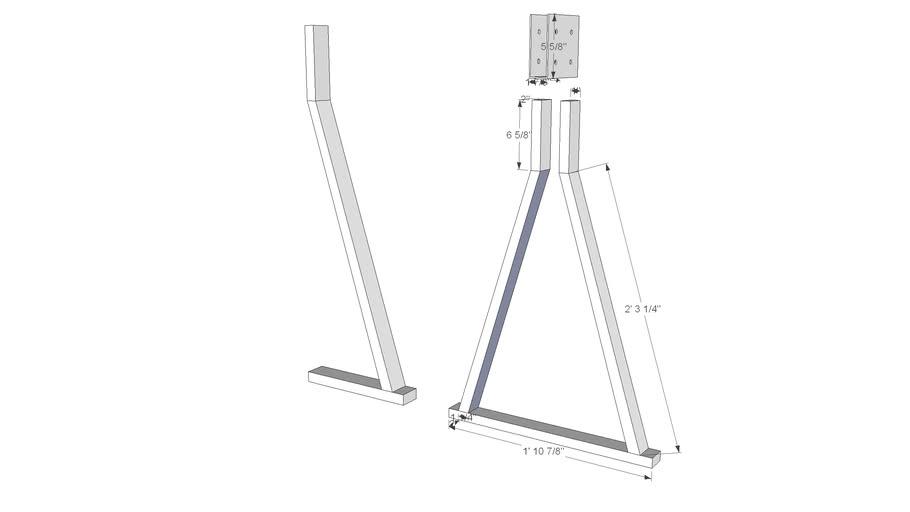 Metal sawhorse ladder rack 3