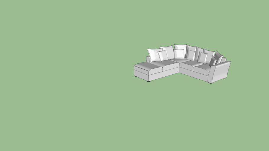 sofa blanco en L
