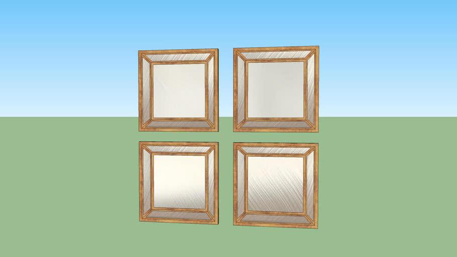 copper mirror set