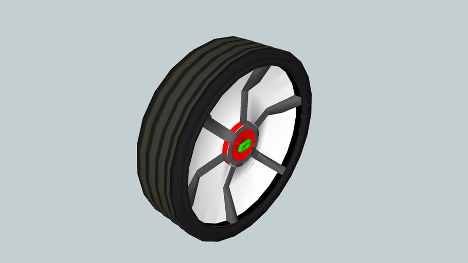 6 spokes wheel with treads