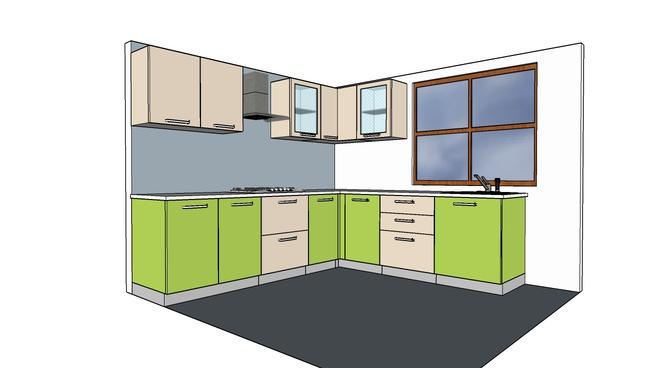 Modular Kitchen Design In Sketchup