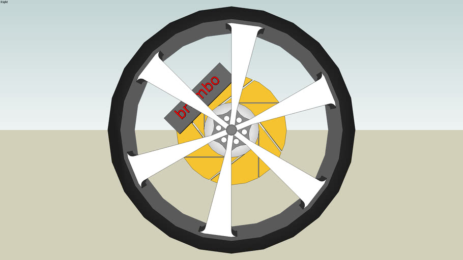 6- Spoke Mag wheel with Tyre