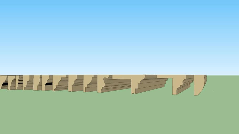 cornice razor Stone cladding