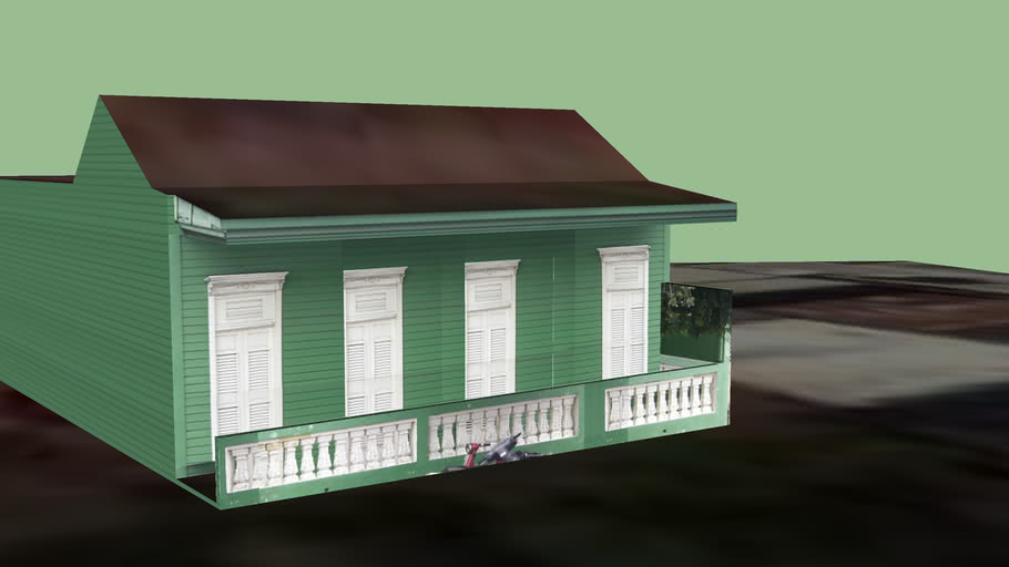 Casa madera verde m63