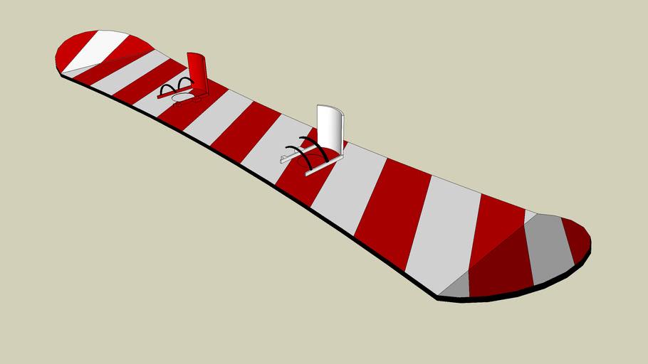 Candy Cane Snowboard