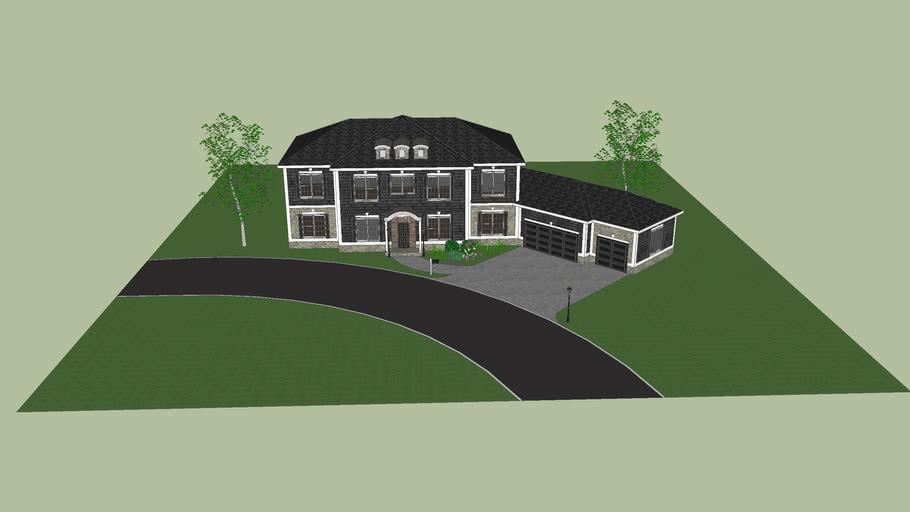 Grey Shingled House