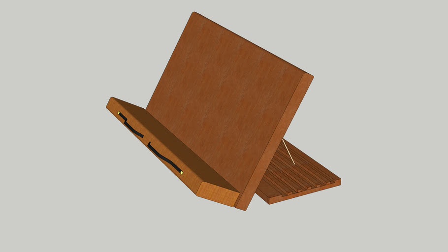 a wooden book holder