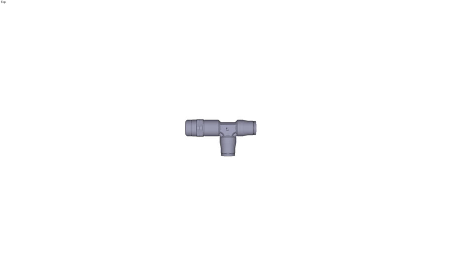 3603 - MALE STUD RUN TEE BSP/NPT TAPER DIAM D 3/8 INC C NPT3/8