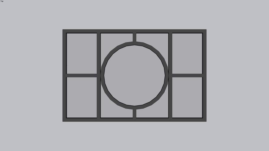 Janela de Ferro Art Deco