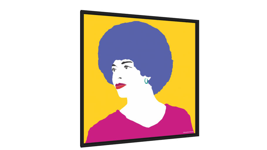 Quadro Angela Davis - Galeria9, por alexsandro almeida