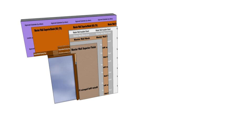 Rollershield Drainage CIFS™ Flanged Window Head Detail