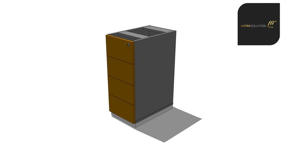 Gaveteiro - Pedestal - 4G - 30x48x71 - Arquivamento