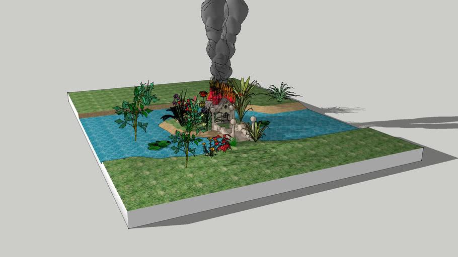 Fairy land burning