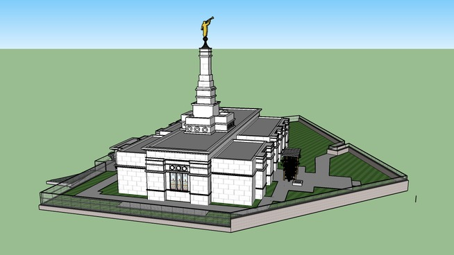 LDS. Temple Baton Rouge Louisiana, Templo Mormon 94th.operating Temple.