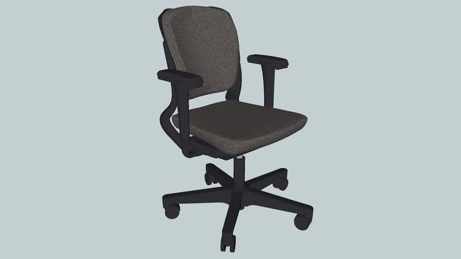 Ahrend 230 Desk chair, high back, plasic starfeet
