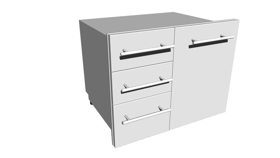 "Designer Series 30"" W Liquid Propane Triple Drawer Combo w/Self-Leveling Legs - I"