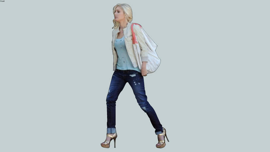 Blonde in Skinny Jeans 2d Photo Face Me