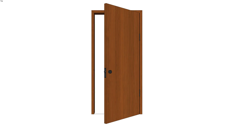 Door with Jamb 3ft Right - Detailed