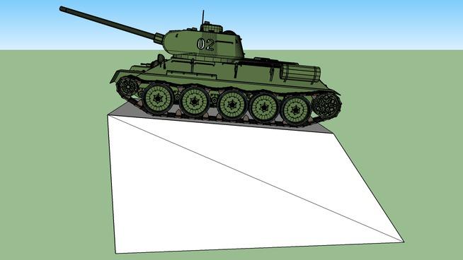 Tank-monument T-34