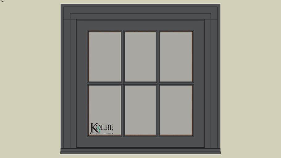 """Kolbe Ultra Casement KUX126 (F.S. 2'-6"""" x 2'-6"""" R.O. 2'-6 1/2"""" x 2'-6 1/2"""")"""