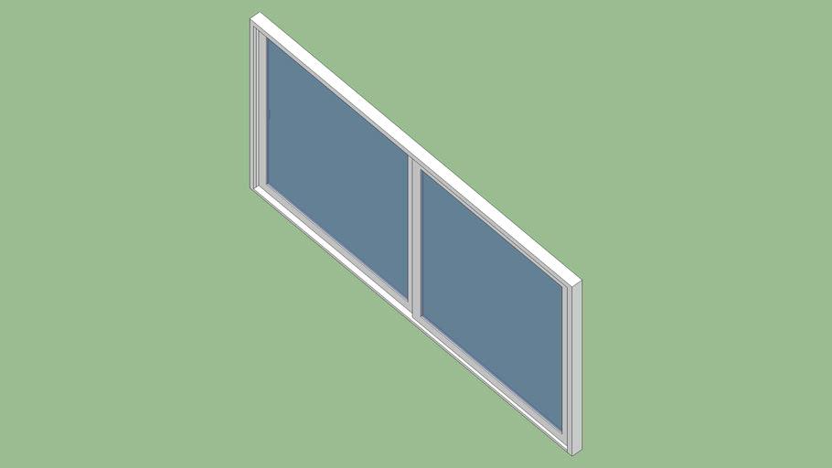Baie vitrée coulissante H215 cm * L400 cm