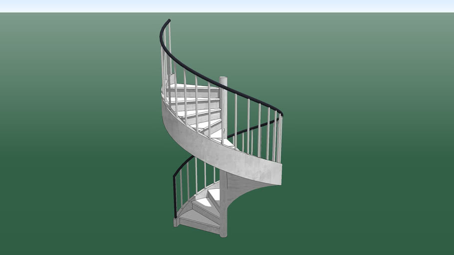 Stairs Spiral Concrete