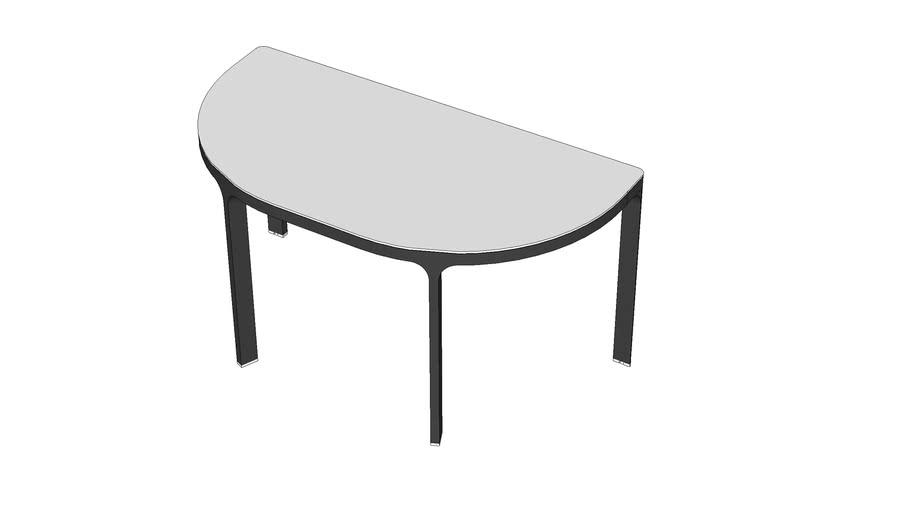 Ikea Bekant Half Round Table 3d Warehouse, Half Circle Table Ikea