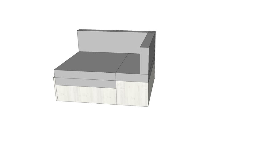 flexa whitewash sleeping module