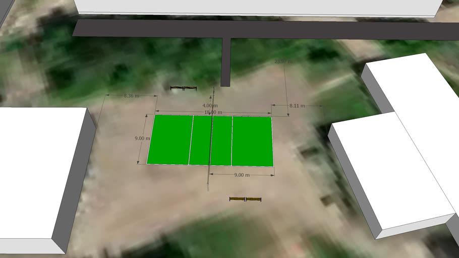 Волейбольная площадка в Строительном техникуме