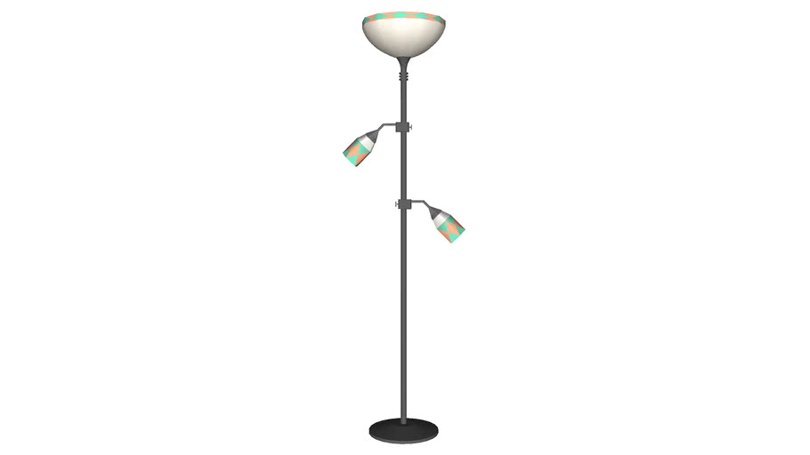 Stained Glass Floor Lamp - Detailed