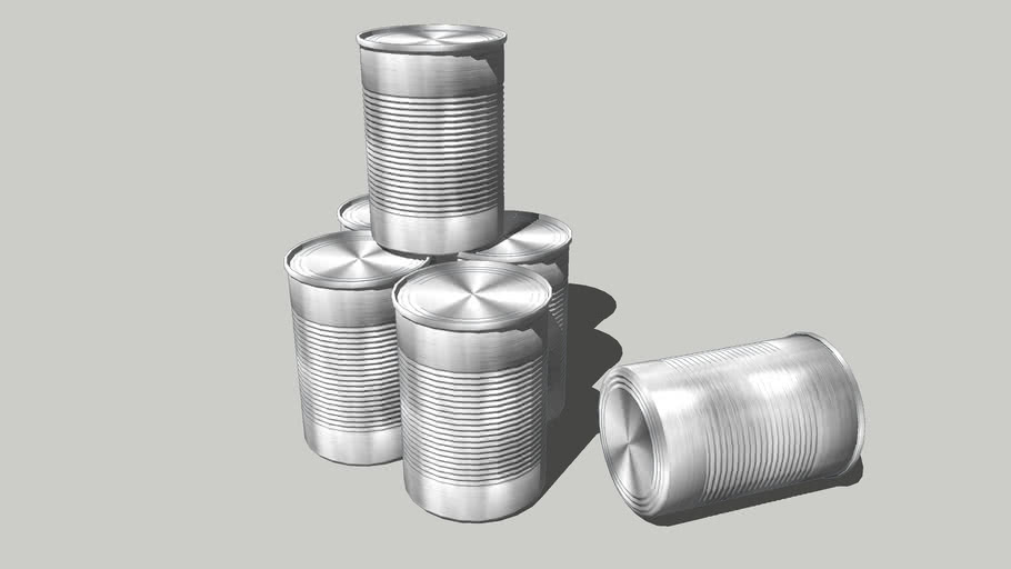 Non-labeled tin cans