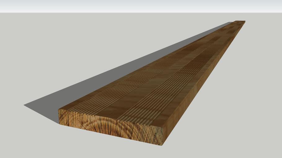 Lame De Terrasse Bois Autoclave 22x140 3d Warehouse