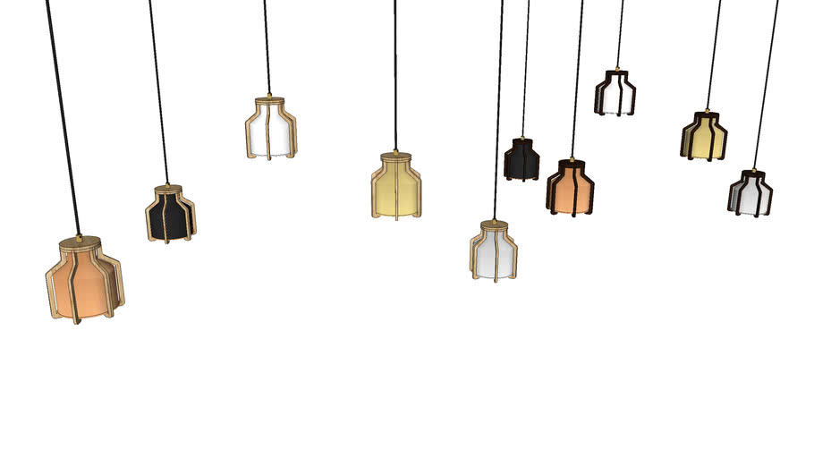 Cell Pendant Small - Contemporary Ceiling Light by Liqui