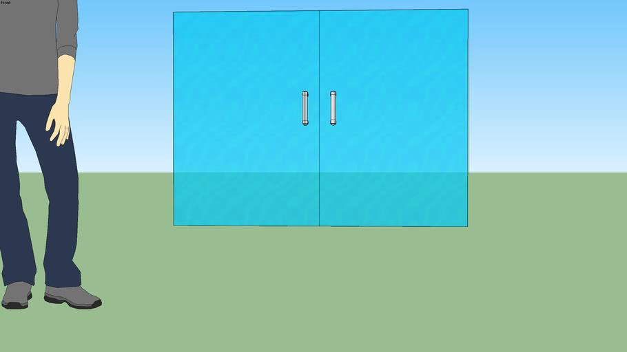 porta de vidro 3m x 2,20m