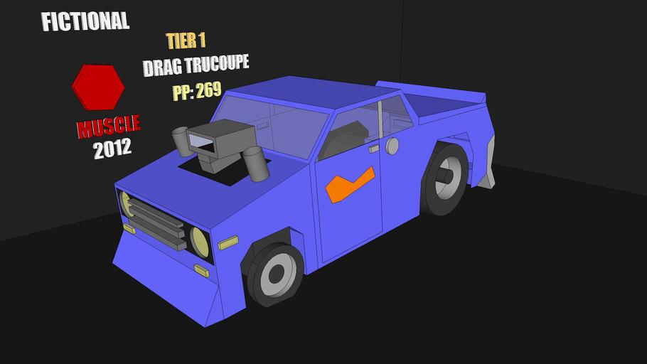 Flywheels Drag Trucoupe w/scene