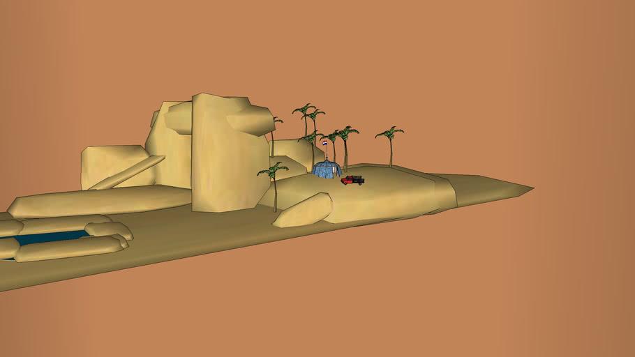 in the desert...