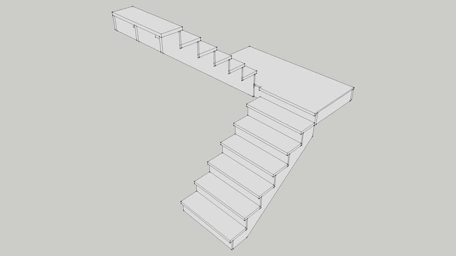 109.75 rise U turn left stair