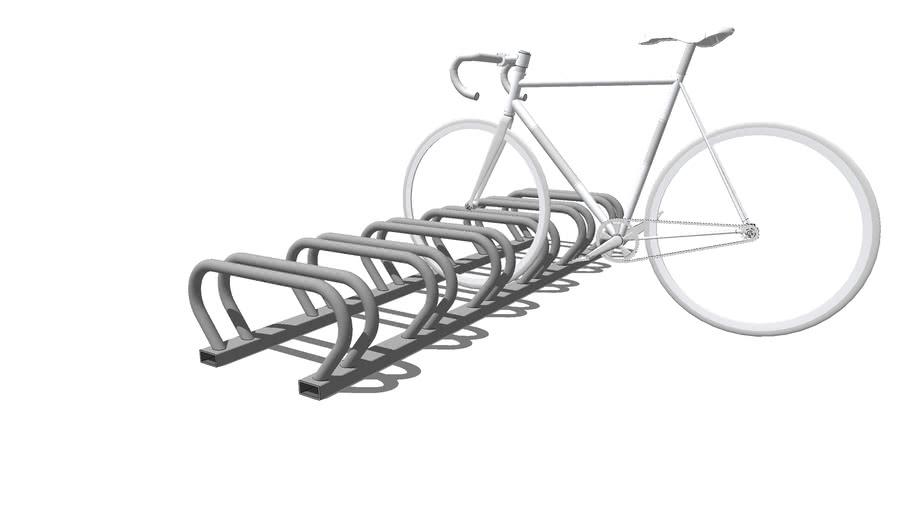Велопарковка 7-ми местная VELO-37 из нержавейки / bycicle parking, bike rack VELO-6 for 8 housing, pocket