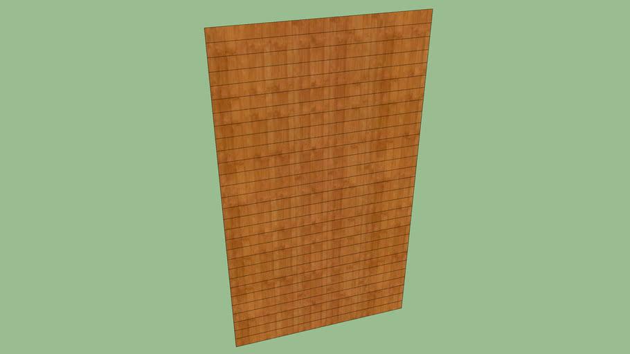 Painel de madeira simples